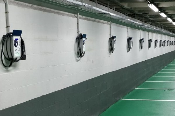 Community garage charging points