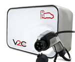 new v2c charging point