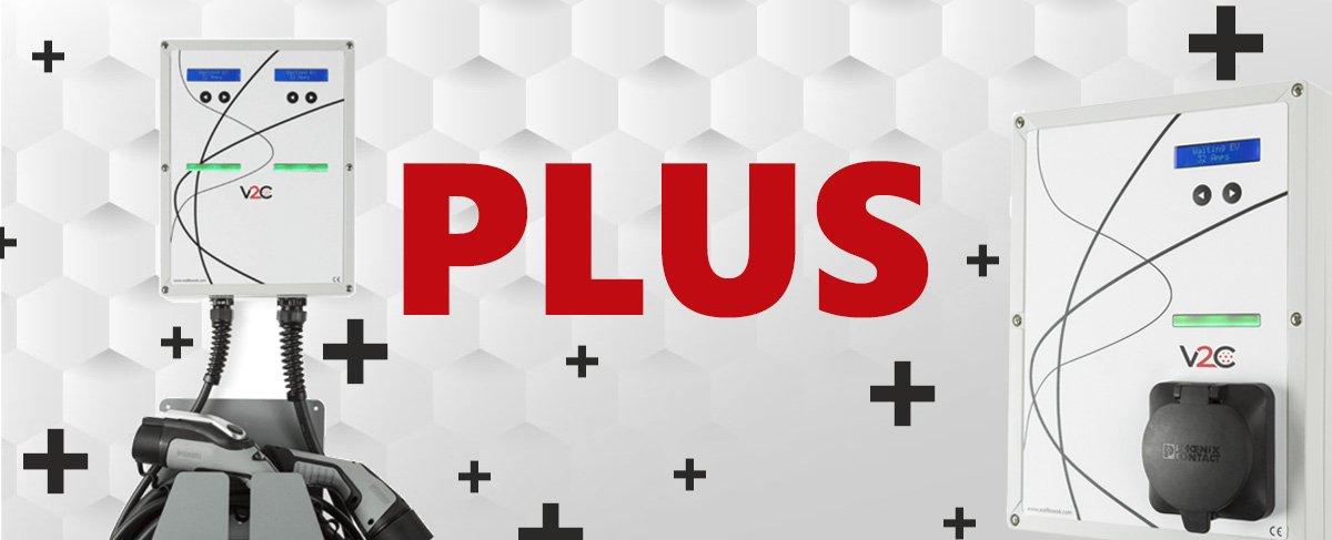 Modelo Plus marca V2C Recarga coches eléctricos
