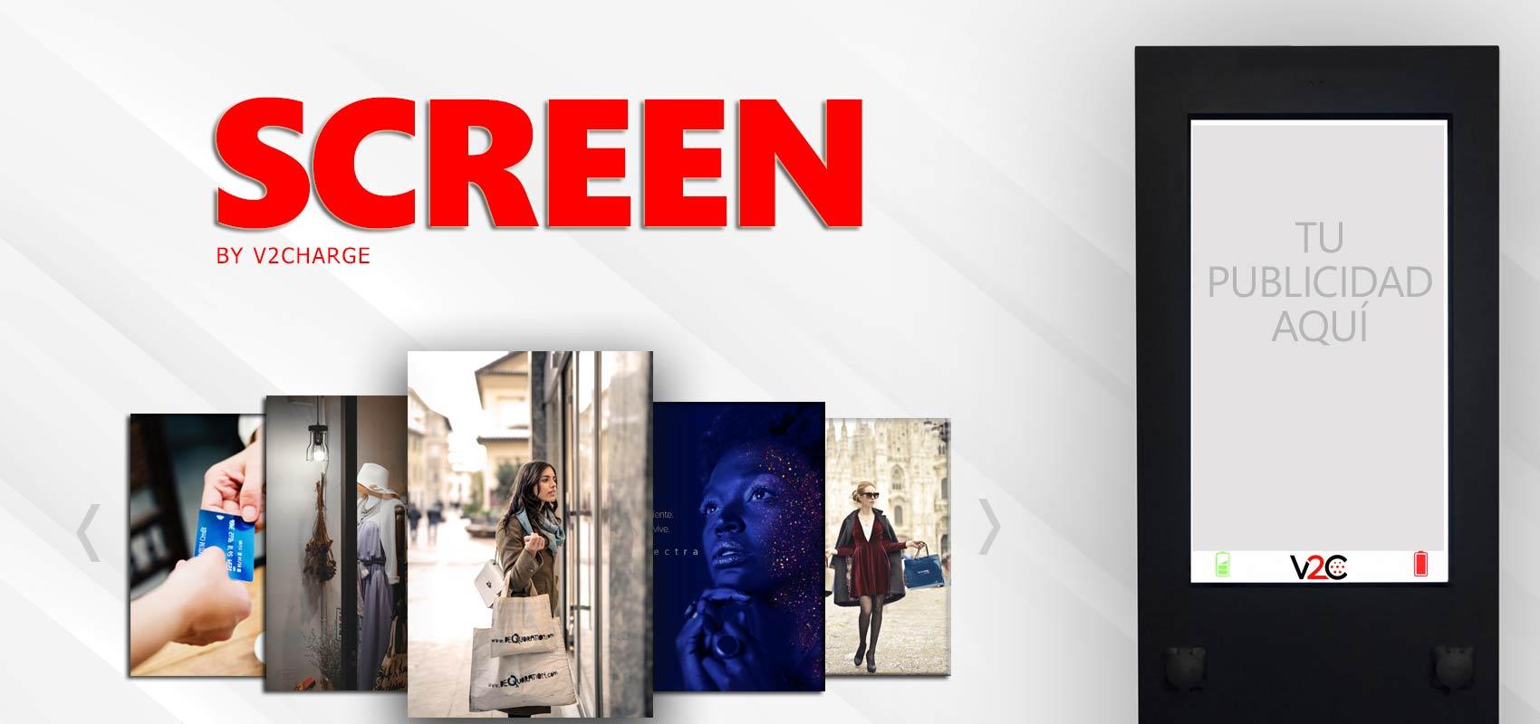 Screen, punto de recarga con publicidad de V2C
