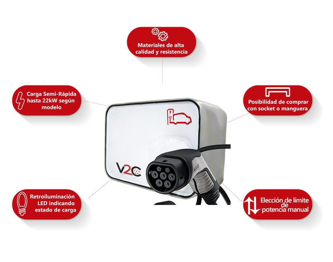 NEW, punto de recarga para cocher electricos V2C